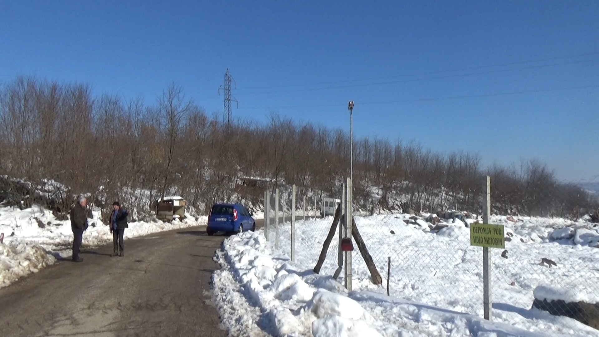 Video nadzor na gradskom deponijom