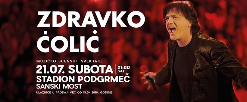 Veliki koncert Zdravka Čolića u Sanskom Mostu