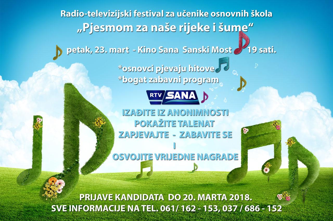 """Prijave za dječiji festival – """"Pjesmom za naše rijeke i šume"""""""