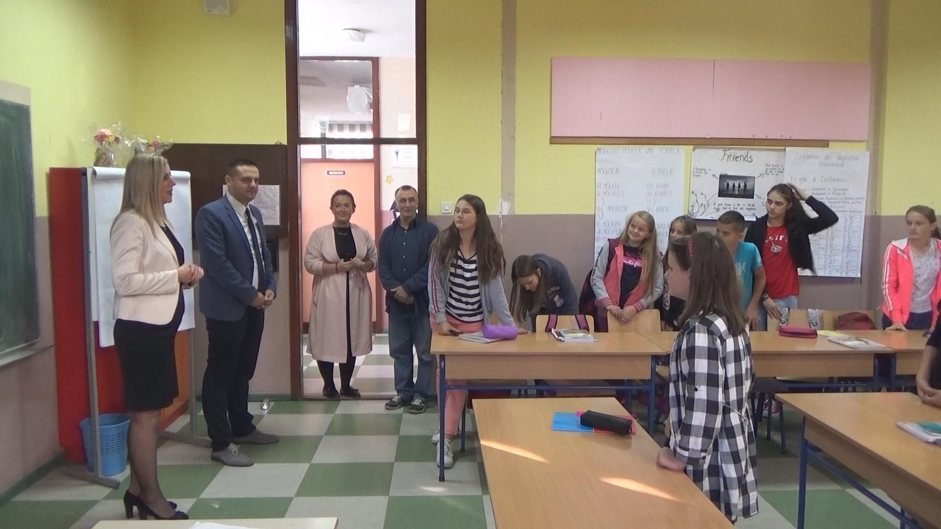 Ministar Burnić posjetio školu u Fajtovcima