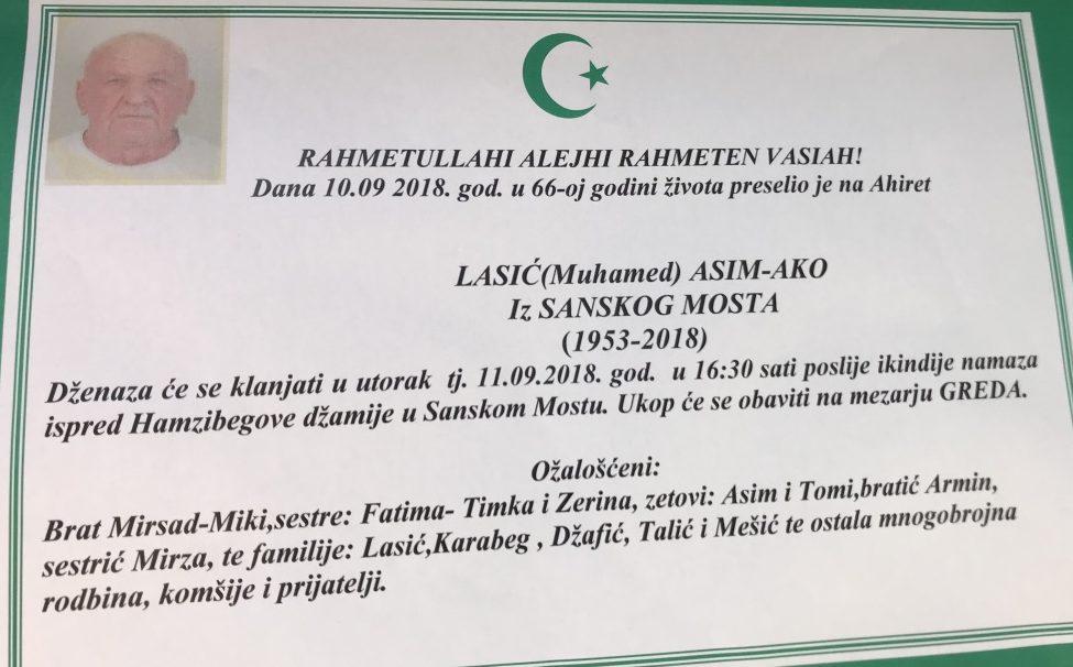 Lasić (Muhamed) Asim – AKO