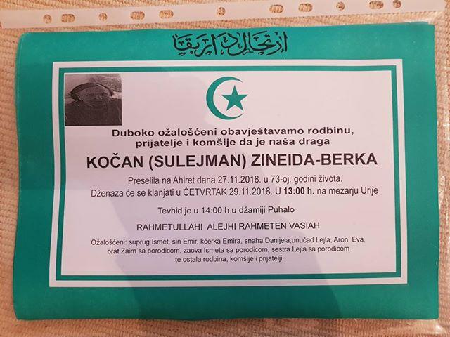 Kočan (Sulejman) Zineida – Berka