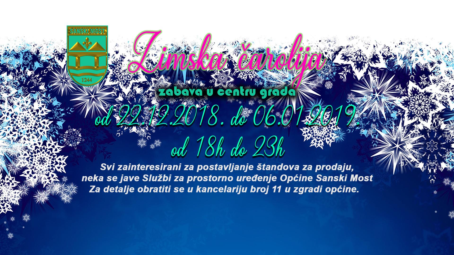 """""""Zimska Čarolija"""" i ove godine dolazi u Sanski Most"""