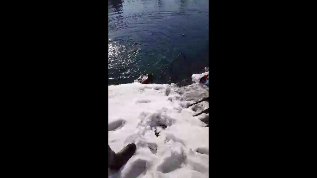 Nekad se zimi i na rijeci Sani kupalo VIDEO