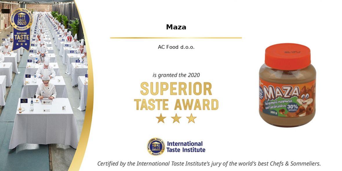 Maza osvojila prestižnu nagradu Međunarodnog instituta za okus