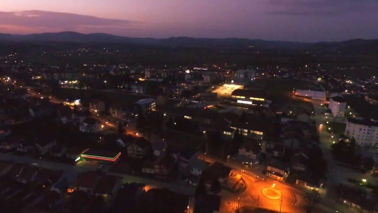 Let iznad Sane u večernjim satima VIDEO