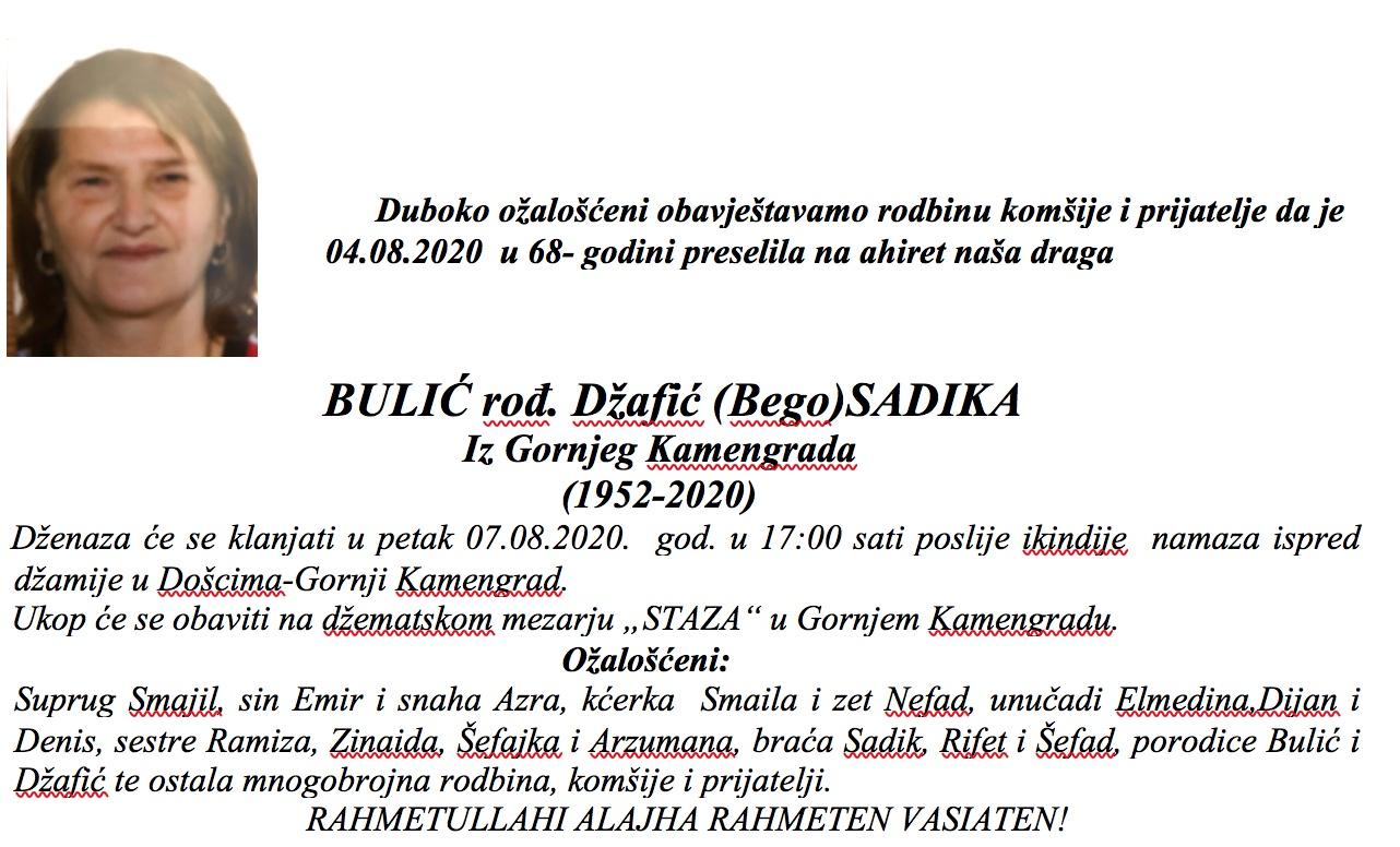 Bulić (Bego) Sadika