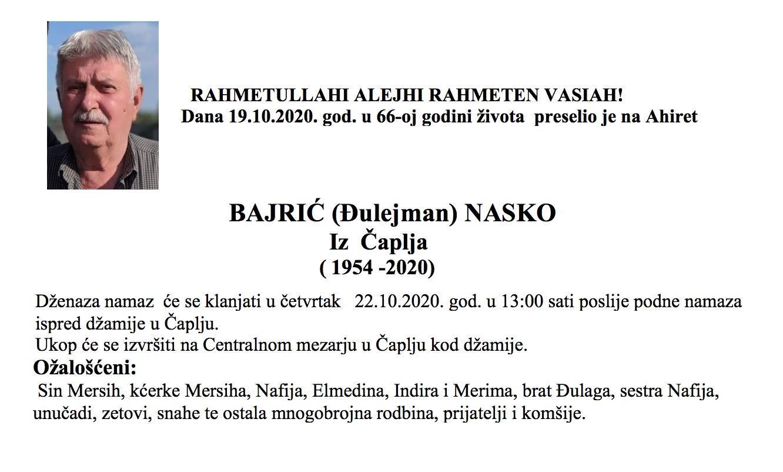 Bajrić (Đulejman) Nasko