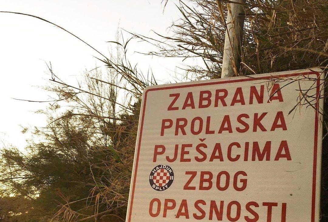 Originalna šala u Splitu: Možete li prepoznati šta se desilo natpisu?