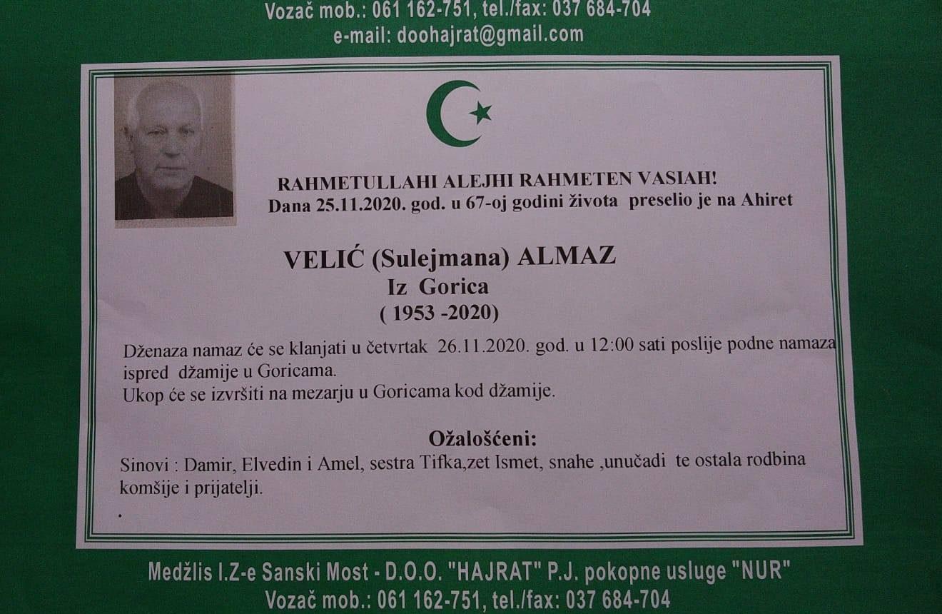 VELIĆ (Sulejman) ALMAZ