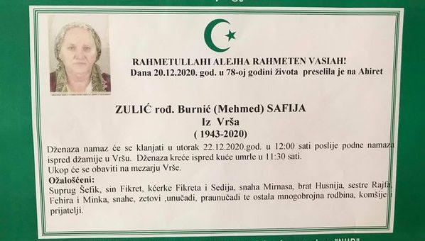 Zulić (Mehmed) Safija