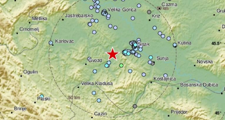 Jutros potres od 3.2 po Richteru kod Petrinje, nekoliko manjih tokom noći