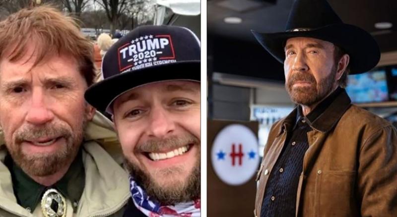 Fotografija zbog koje ljudi misle da je Chuck Norris bio među ruljom u Kongresu, javio se on