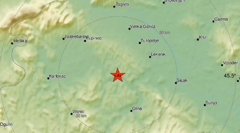 Novi potres magnitude 3.2 kod Gline
