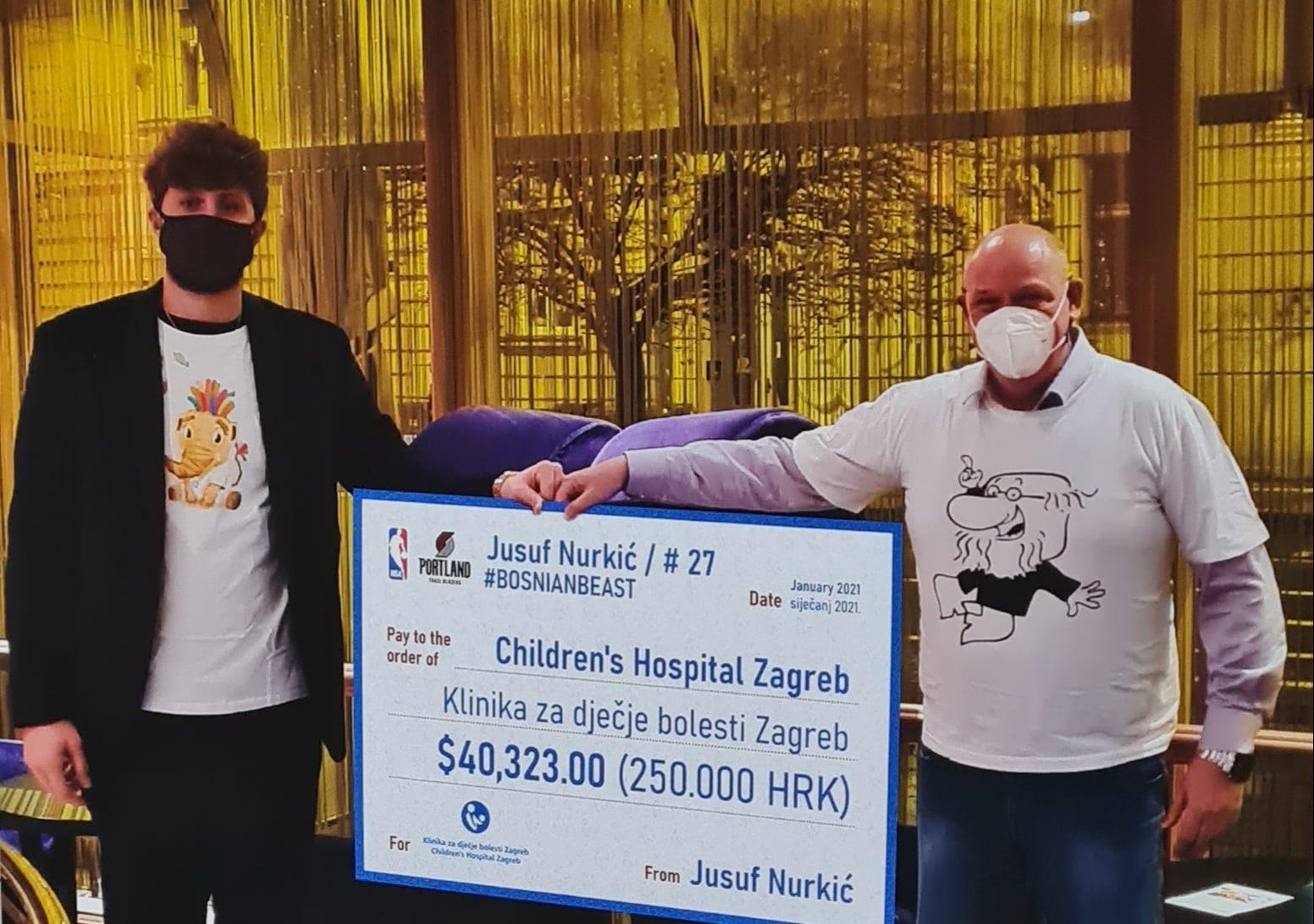 BRAVO Nurkić donirao 40.000 dolara Klinici za dječije bolesti u Zagrebu