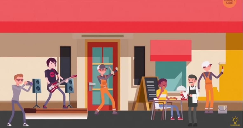 Test opažanja: Koja osoba na ilustraciji je ljevoruka?