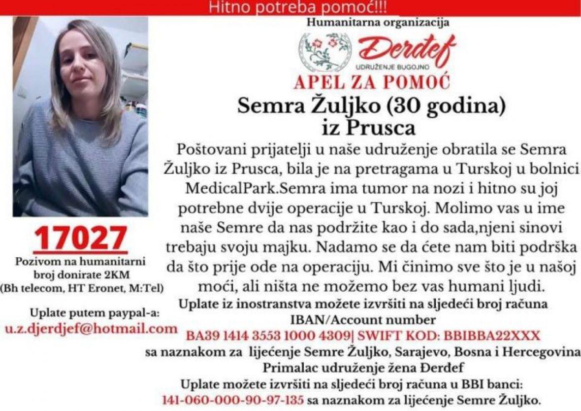 Mladoj majci iz Bugojna hitno potrebna pomoć za liječenje u Turskoj