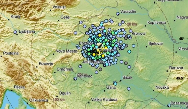 Potres od 3.1 po Richteru u Zagrebu