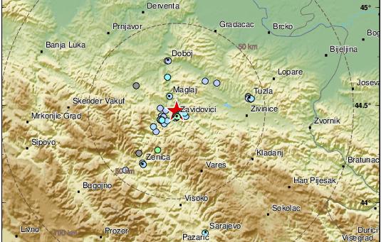 Zemljotres u BiH: Jako se osjetio, popadali su tanjiri i čaše sa police