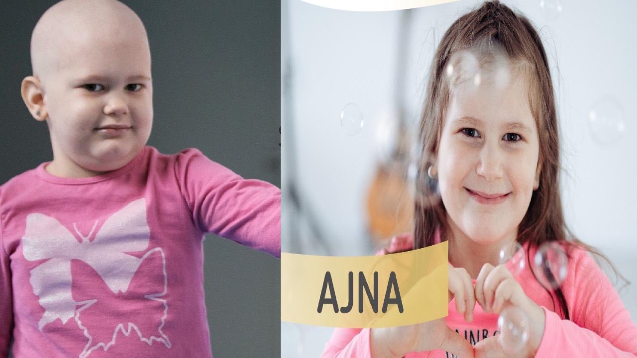 Ovo je Ajna – prije i poslije bolesti. Podržite i vi borbu djece oboljele od raka