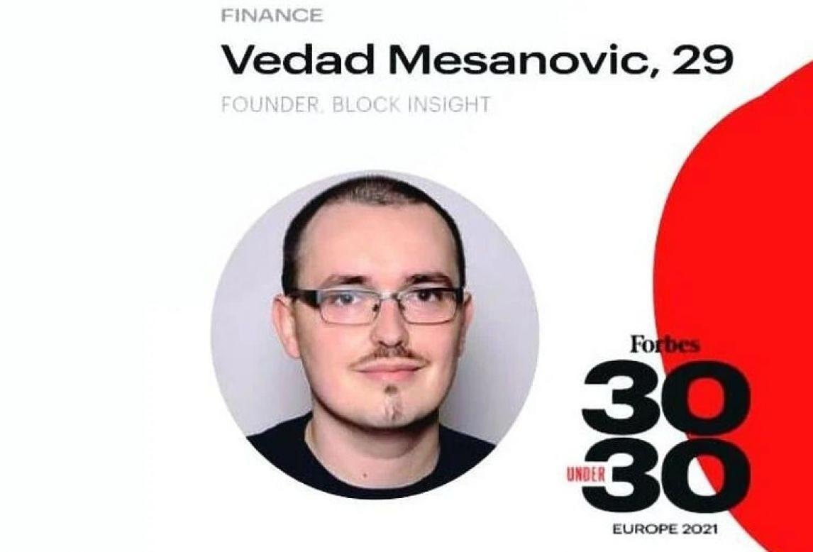 Na Forbes listi najutjecajnijih mladih ljudi i Vedad Mešanović