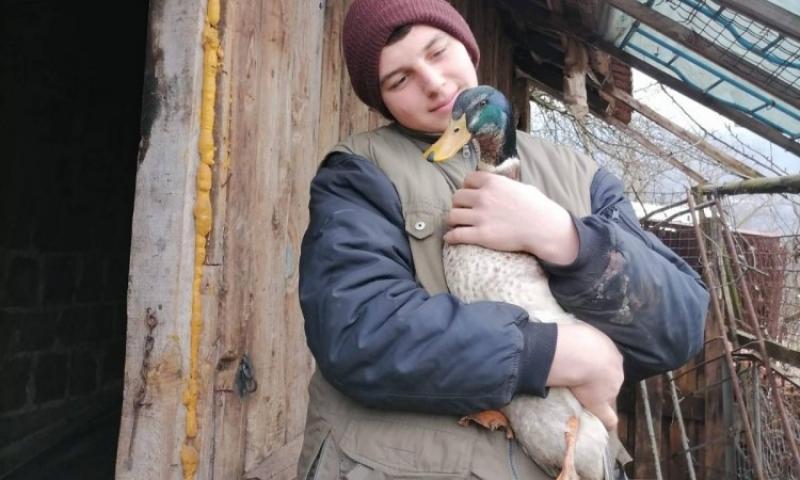 Umjesto u igricama i mobitelima, mladić Jusuf Mašić uživa u uzgoju peradi