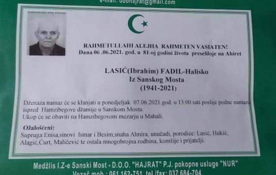Lasić (Ibrahim) Fadil – Halisko