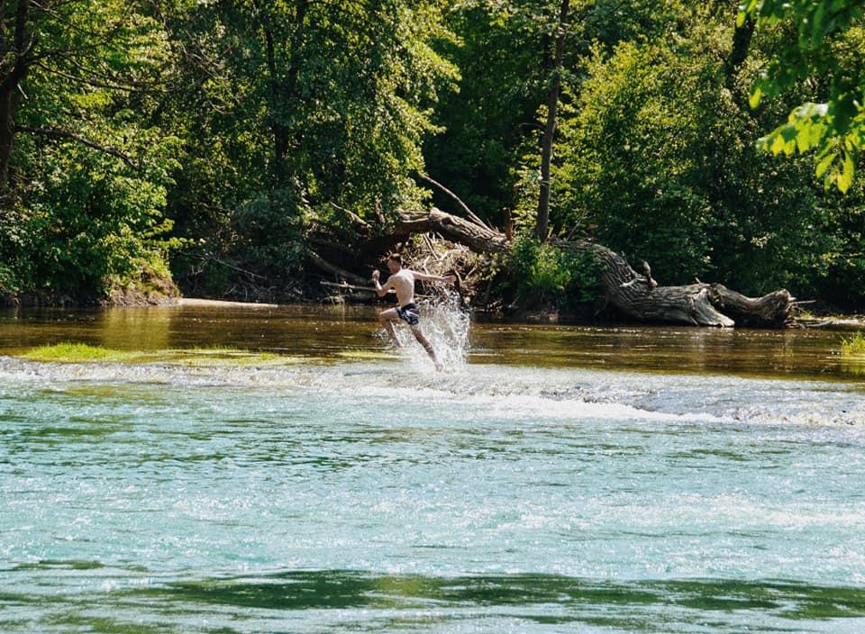 FOTO DANA Osvježenje na rijeci Sani