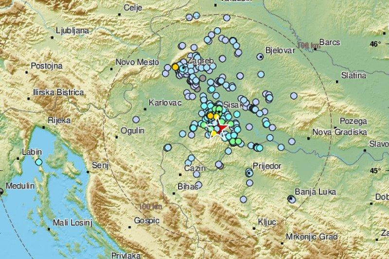 Zemljotres snage 3,7 tokom noći zabilježen kod Petrinje, osjetio se na sjeveru BiH