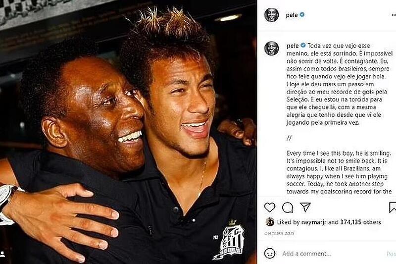 Neymar prešao Ronalda pa se rasplakao, Pele mu poslao dirljivu poruku