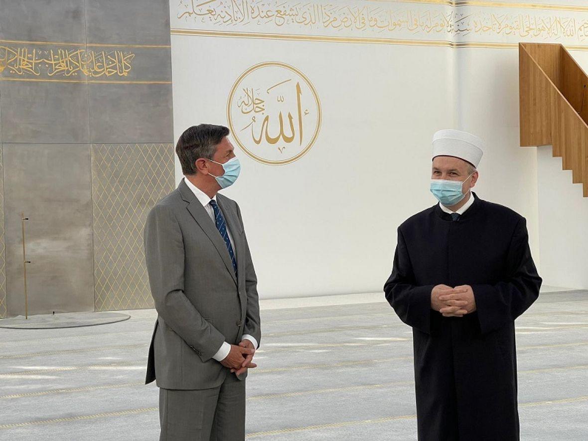 Pahor prvi put posjetio džamiju: Ponosan sam što je ovaj objekat u Sloveniji