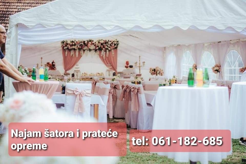 Najam šatora u Sanskom Mostu za sve Vaše prilike