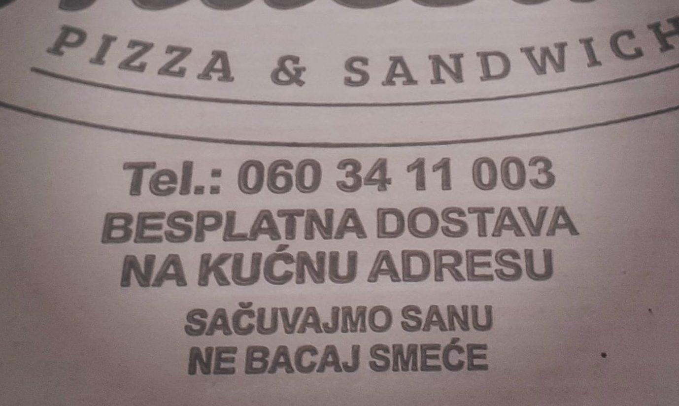 BRAVO Poruka na kutiji pizze: Sačuvajmo Sanu, ne bacaj smeće