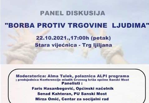 """Panel diskusija u Sanskom Mostu: """"Borba protiv trgovine ljudima"""""""